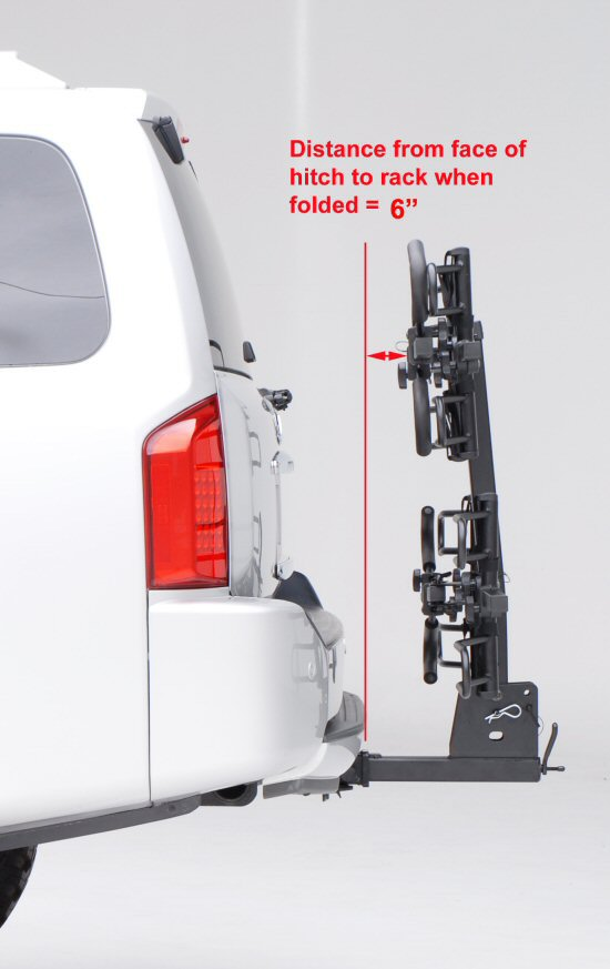 Hollywood HR1400 Sport Rider 4-Bike Platform Hitch Rack Folded